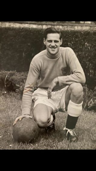 Goalkeeper Jim Lornie, who shot the Aberdeen cine films.