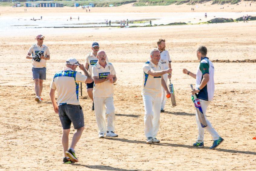 Ship Inn beach cricket
