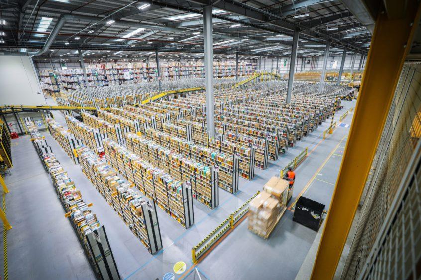 Amazon warehouse in Dunfermline