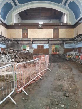 Perth City Hall as work to renovate it gets underway