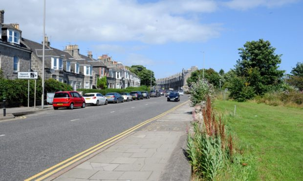 The new road, leading to the Kittybrewster roundabout, will come off Great Northern Road here. It is being built as part of the multi-million-pound Berryden Corridor project.