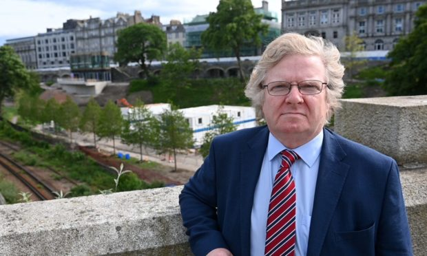 """Councillor Ian Yuill said rumours granite from UTG was being destroyed at an Aberdeenshire quarry was """"very concering""""."""