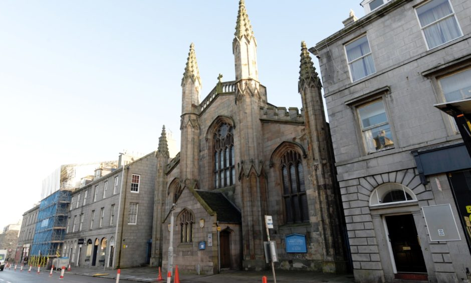 St Andrew's Cathedral in King Street, Aberdeen.