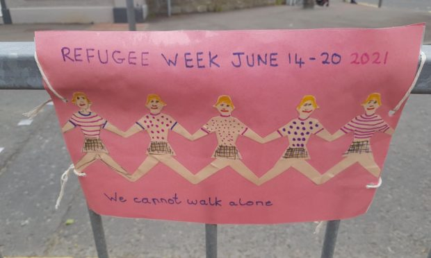 Posters have been put in place across Perth to raise awareness of Refugee Week.