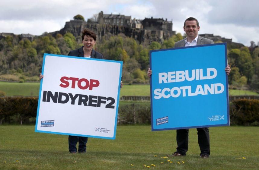 Ruth Davidson and Scottish Conservatives leader Douglas Ross.