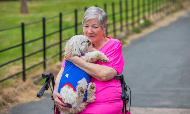 Eunice with dog Bobby.