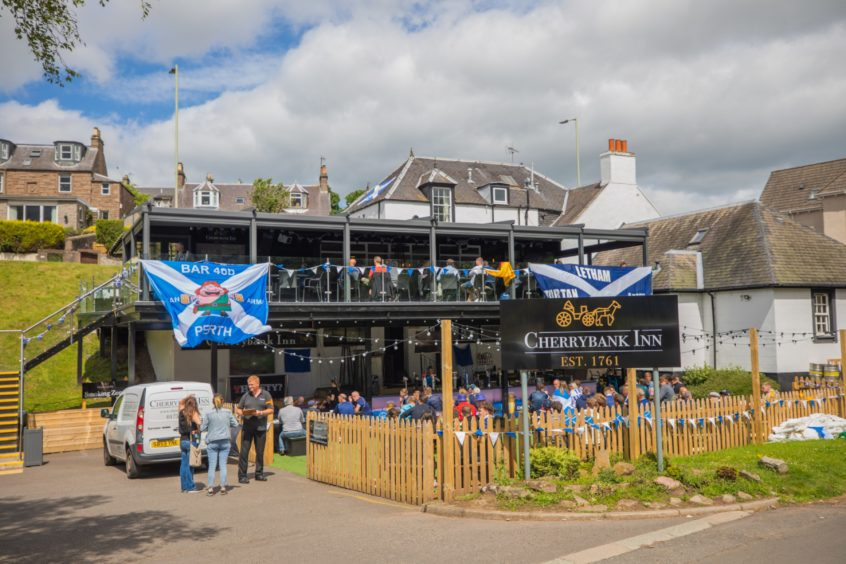 Around 200 Scotland fans watched the match at The Cherrybank Inn in Perth.