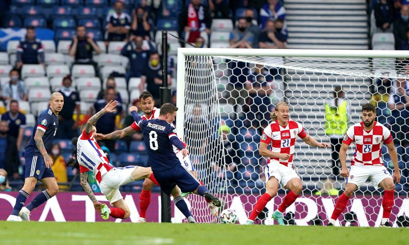 Callum McGregor scores Scotland's first tournament goal since 1998.
