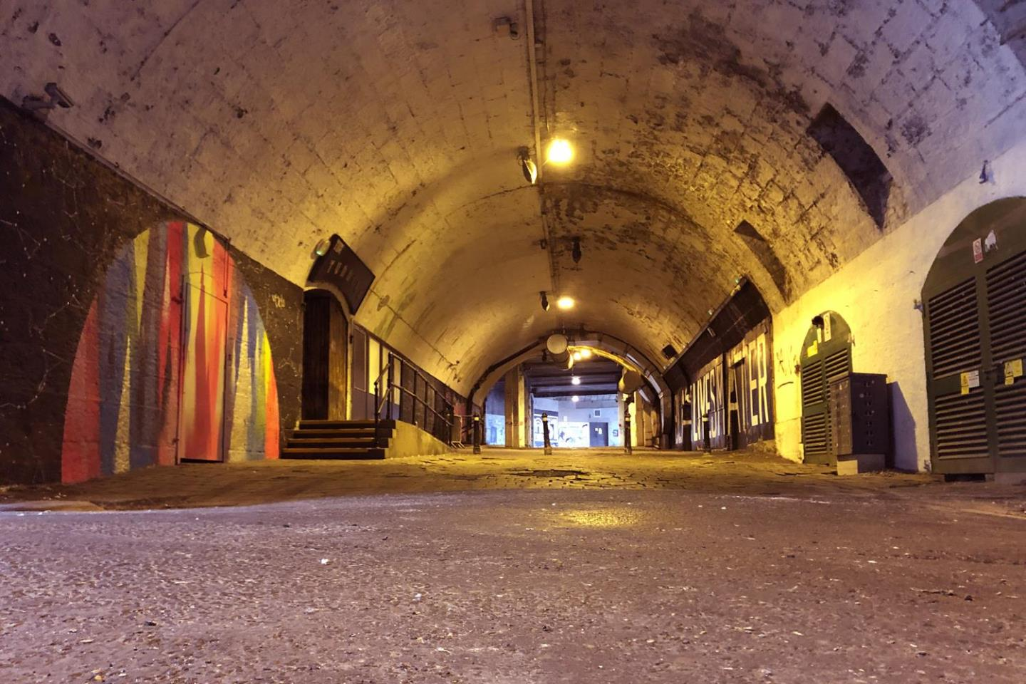 Locals are asked to help create a collaborative paste-up wall running from the East Green into the Tunnels.