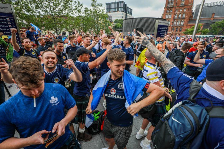 Scotland fans in London.