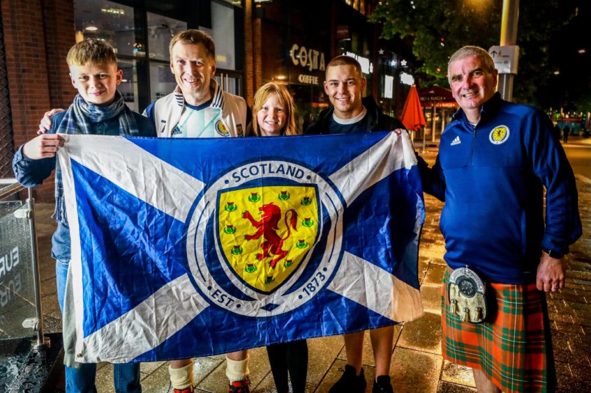 Andrew, Iain and Anna Clark from Dunfermline, with Daniel Corstorphine from Kirkcaldy and Mike Grigor from Dalgety Bay.