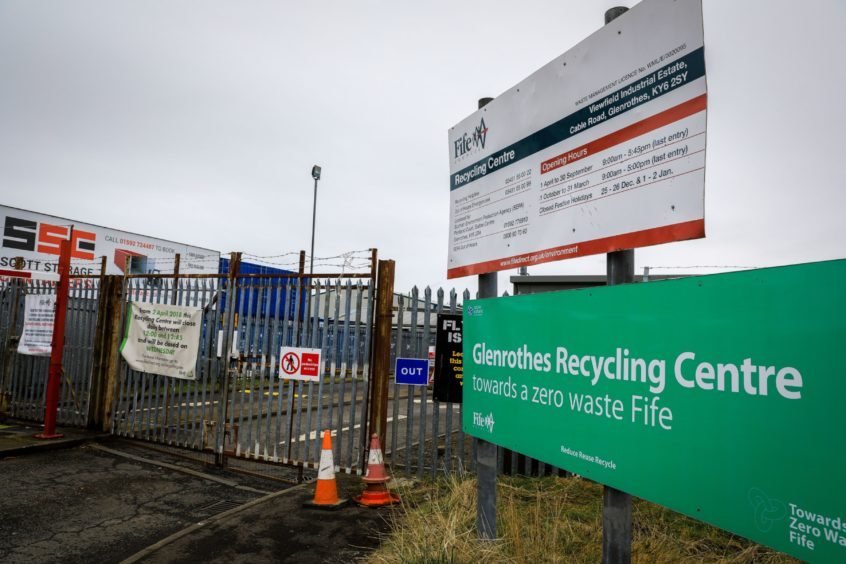 Glenrothes recycling centre in Fife
