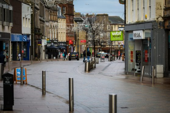 The High Street in Kirkcaldy has been in decline.