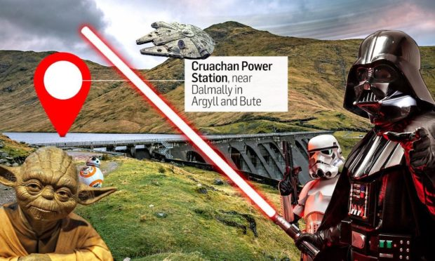 Cruachan Dam, Argyle and Bute, was a filming location for a new Star Wars production