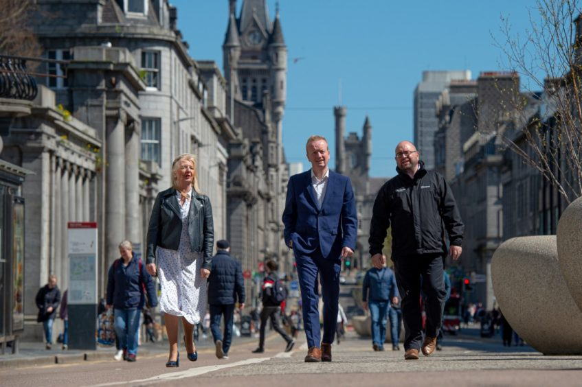 Aberdeen Inspired chief executive Adrian Watson and board vice chairman Craig Stevenson, of the Bon Accord Centre, in Union Street.