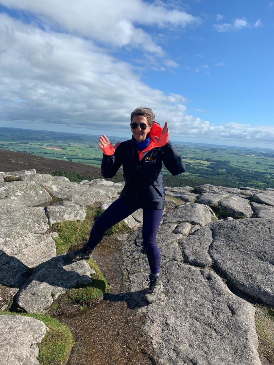 """Lorainne has been """"yapping"""" to people about tonsil cancer and her fundraising efforts on her daily trek to the Mither Tap."""