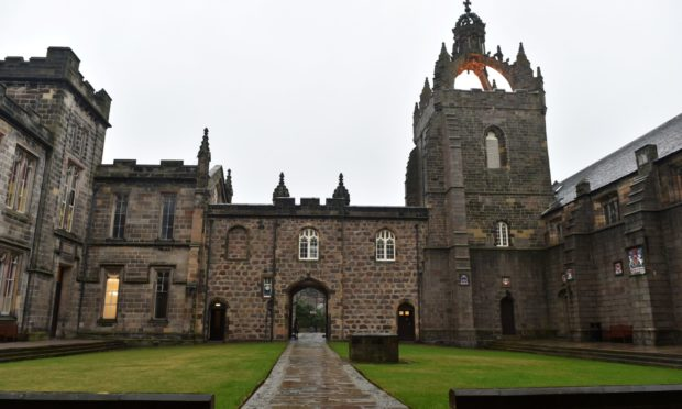 King's College, Aberdeen University. Leaders of both city universities have urged business owners to vote to renew the Bid.