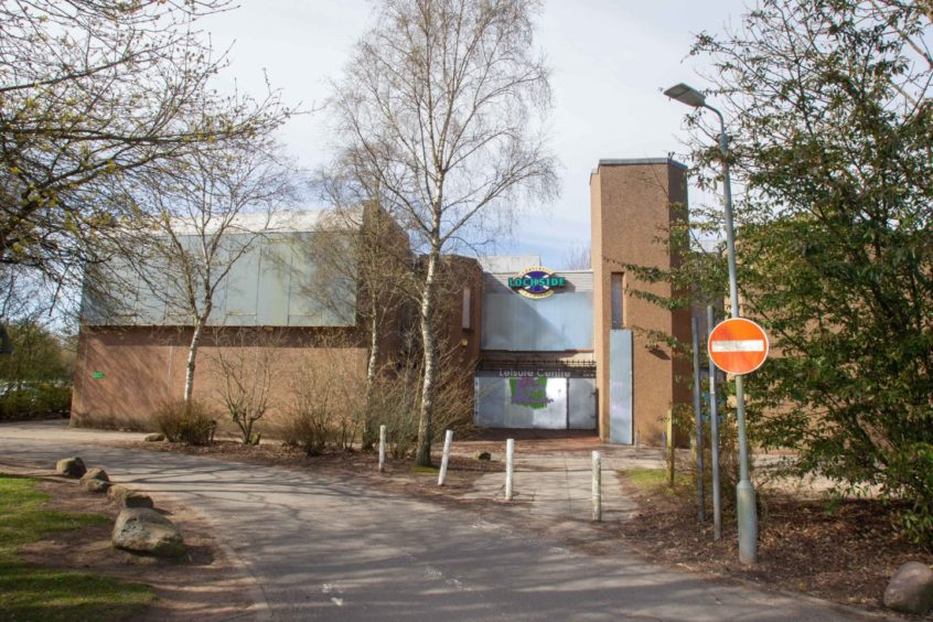 Lochside leisure centre in Forfar, which was closed in 2017.
