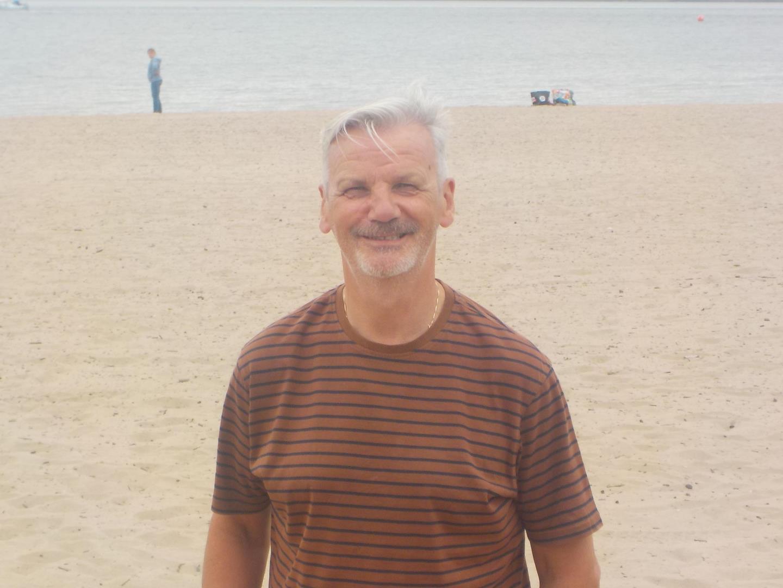 David Mcfadden on the beach
