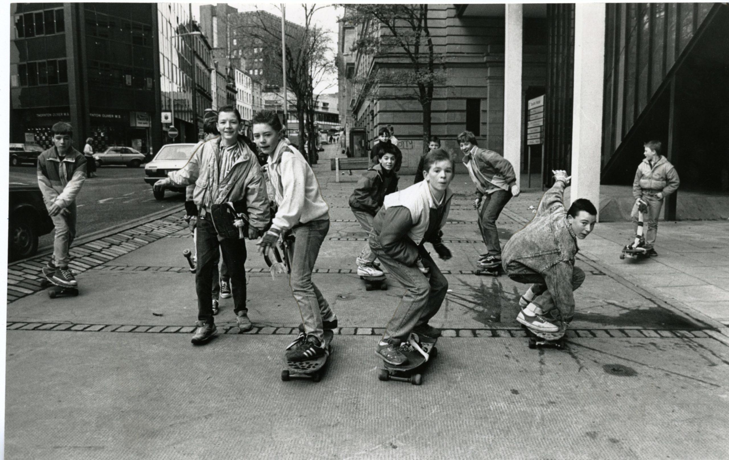 Dundee skateboarders demonstrating