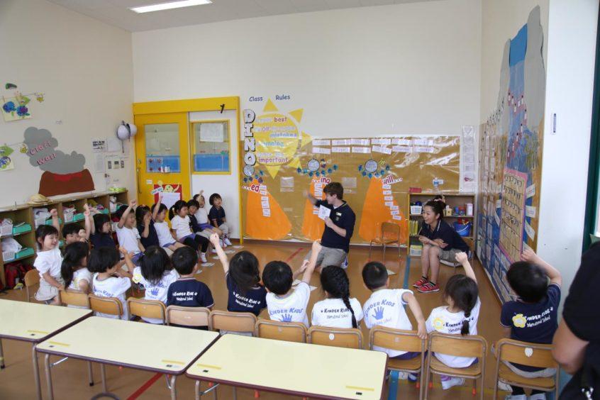 Chris teaching in Japan.