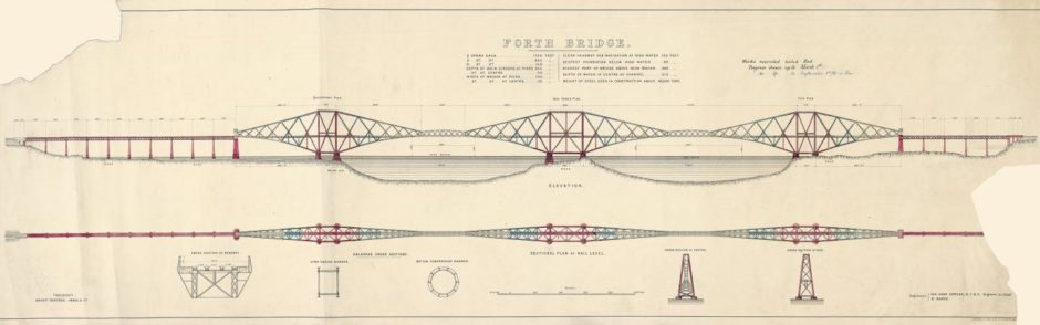 The early plans for the Forth Bridge have been published in a new book.