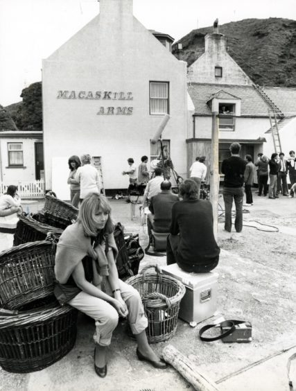 Pennan was transformed into the fictional village of Ferness in Local Hero.