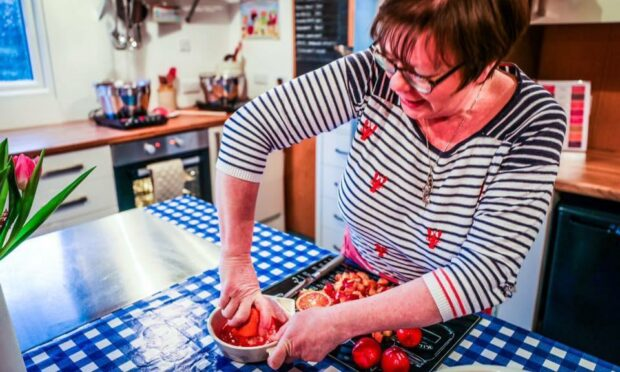 Fiona, from Pittenweem Preserves, does all of the cooking while husband Michael looks after distribution.