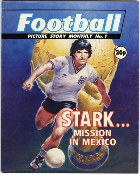 Jon Stark, match-winner for hire, appeared in the first edition of Football Picture Story Monthly in the summer of 1986.