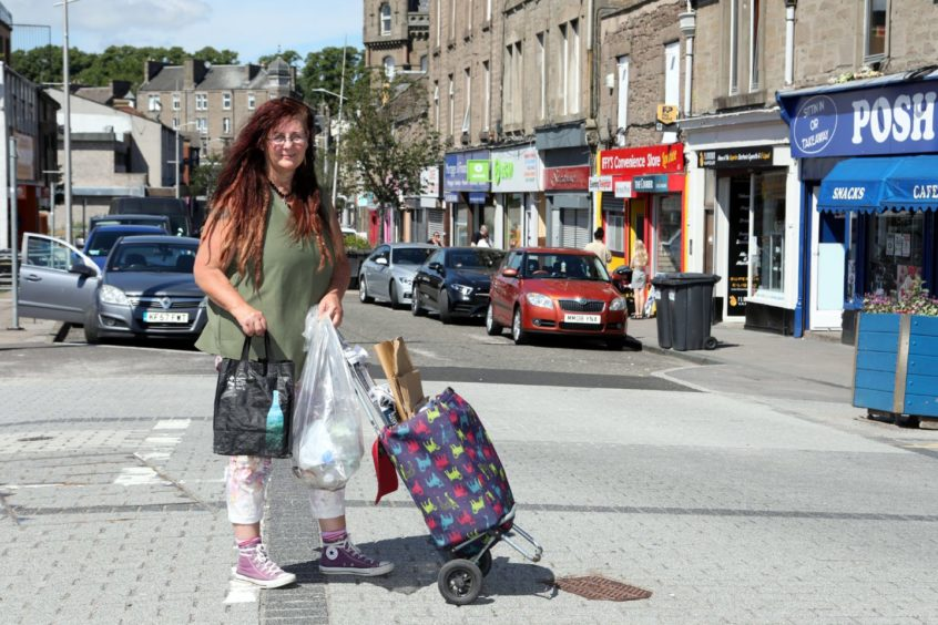 Alison Dreads is struggling to recycle her household waste in Lochee.
