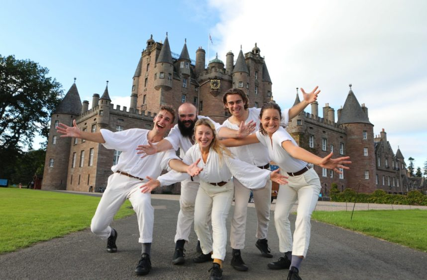 Shakespeare troupe The Three Inch Fools brought their production of Romeo and Juliet to dramatic Glamis Castle this summer. Picture: Gareth Jennings/DCT Media.