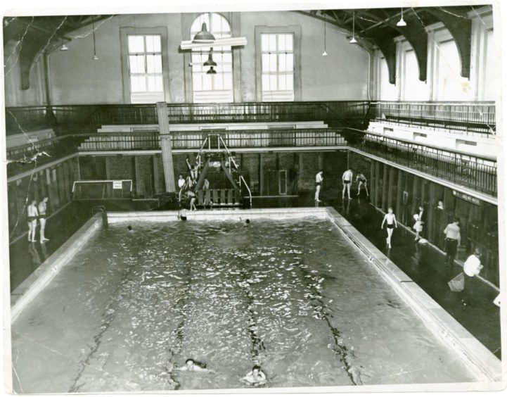 Told off for swimming too much at Dundee Baths