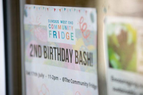 Dundee community fridge birthday