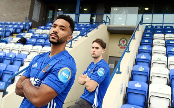 Cove Rangers' new signings Shay Logan and Jevan Anderson.