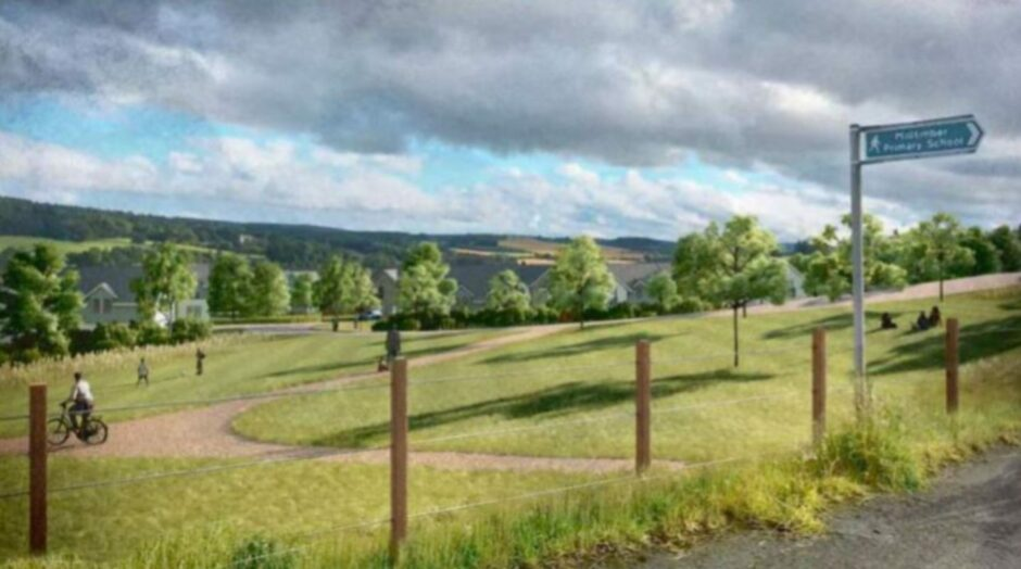 Bancon Homes is to begin work on detailed plans for 80 homes at Milltimber South after the government reporter said he was minded to approve the principle of the scheme.