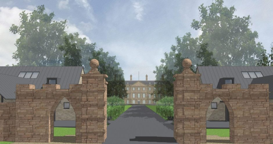 An artist's impression of the plans for Leslie House.