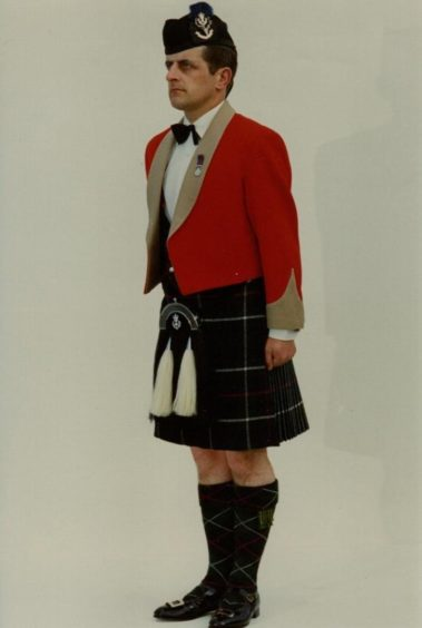 Shown here as a sergeant in Mess dress, Robert Towns rose to Lt Col in the Queen's Own Highlanders.