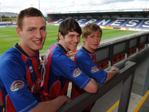 Rory McAllister (left) and Iain Vigurs (middle) in their early days at Caley Thistle.