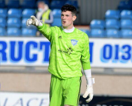 Peterhead goalkeeper Lenny Wilson.