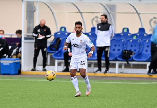 Shay Logan made his first Cove Rangers start.
