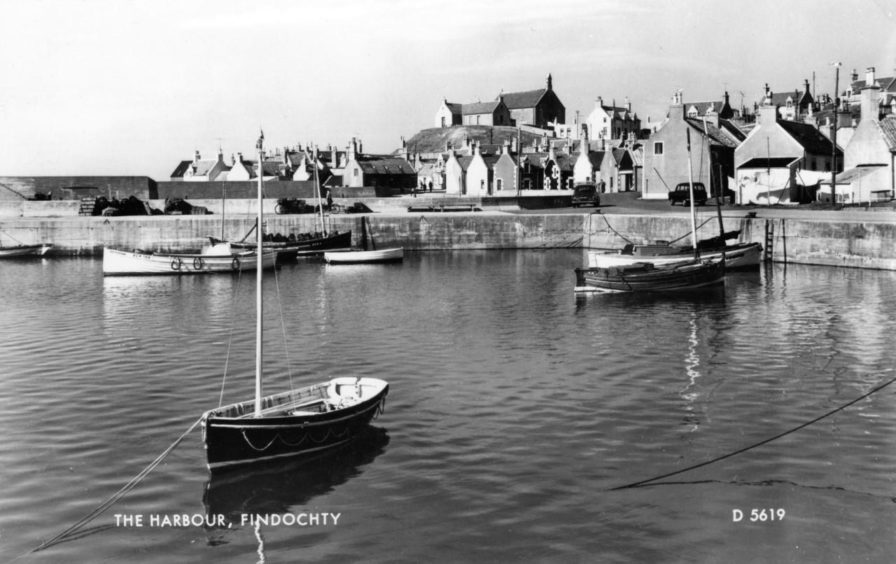A tranquil scene in Findochty Harbour.