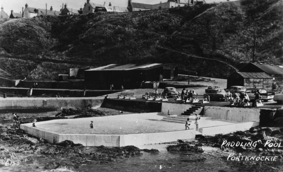 This paddling pool in Portnockie was popular with summer tourists.