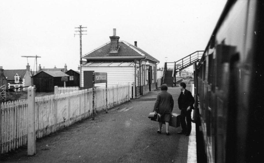 Portnockie railway station.