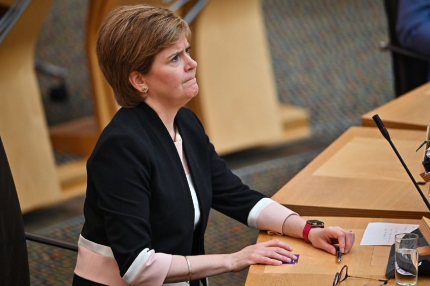 First Minister Nicola Sturgeon during the Covid crisis in Scotland