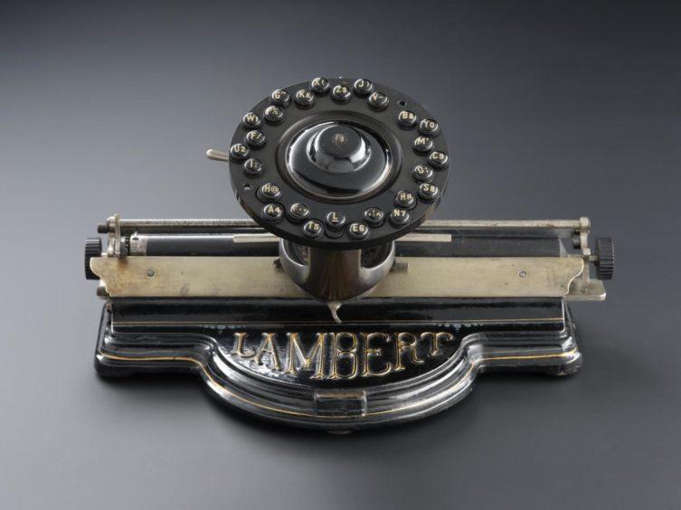 This striking Lambert typewriter dates back to the 1890s.