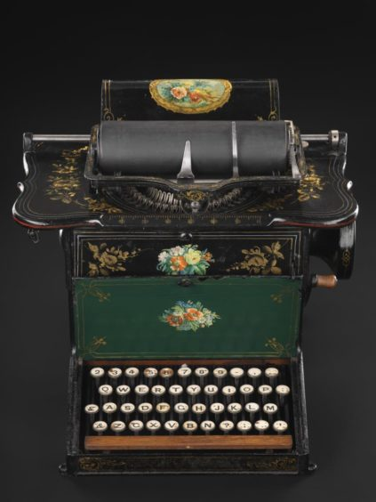 One of the earliest commercial typewriters was produced by Remington in 1875.