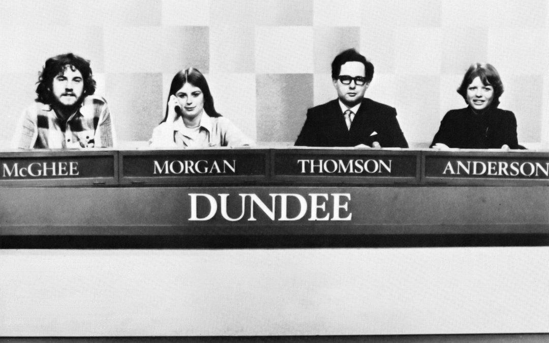 The Dundee University Challenge team in 1978.