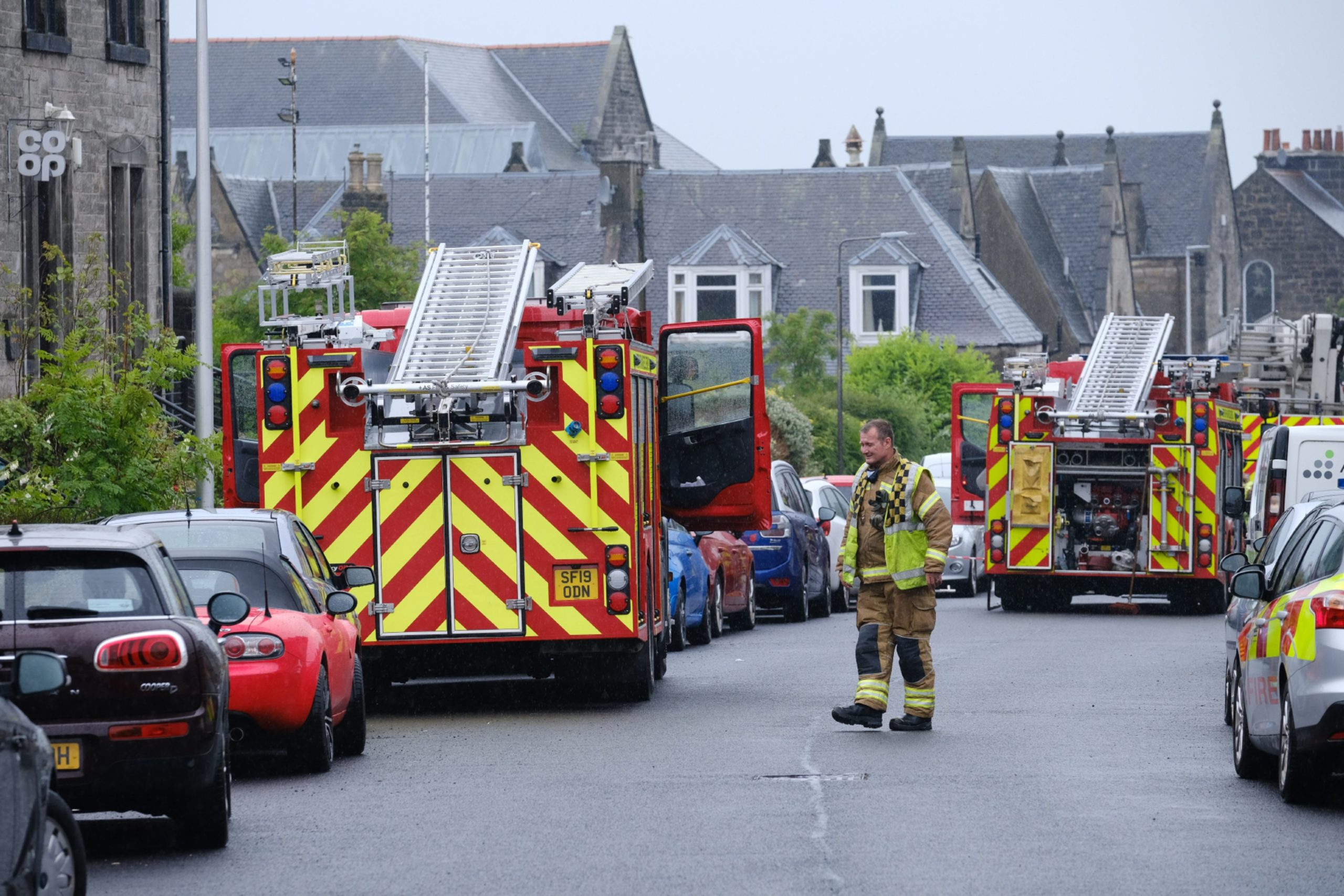 Eight appliances were in attendance after suspected gas explosion.