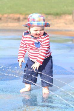 Murray Keegan Nicoll, 1, enjoying the castle green splash pools in 2017.