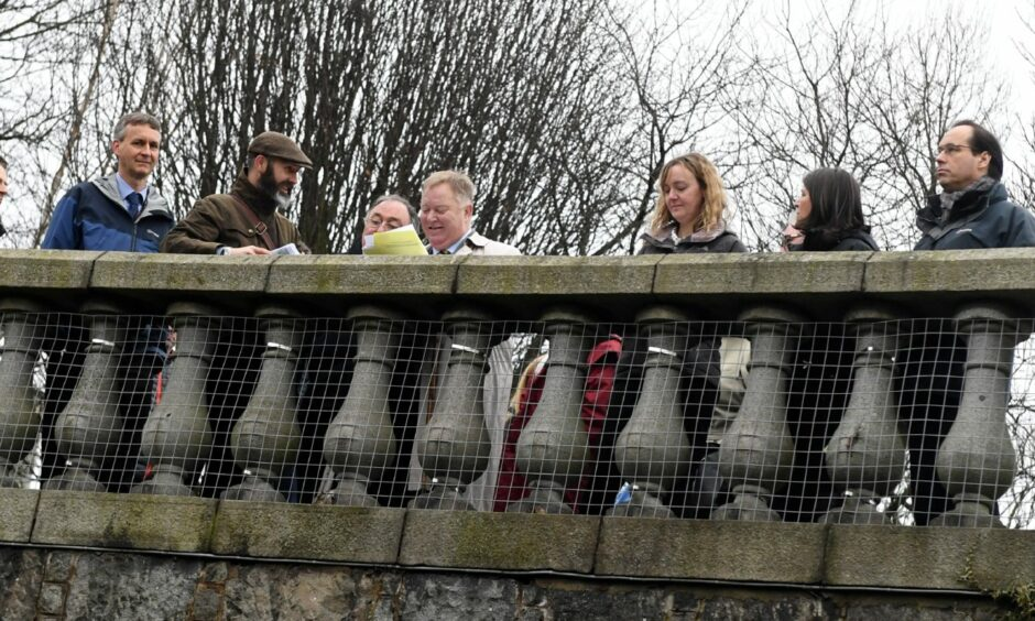 The balustrades in Union Terrace, photographed during a visit to the gardens by councillors in 2018.